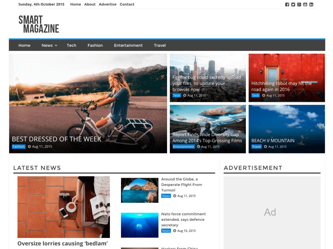 Top 12 Free WordPress Magazine Themes - WP Review Team