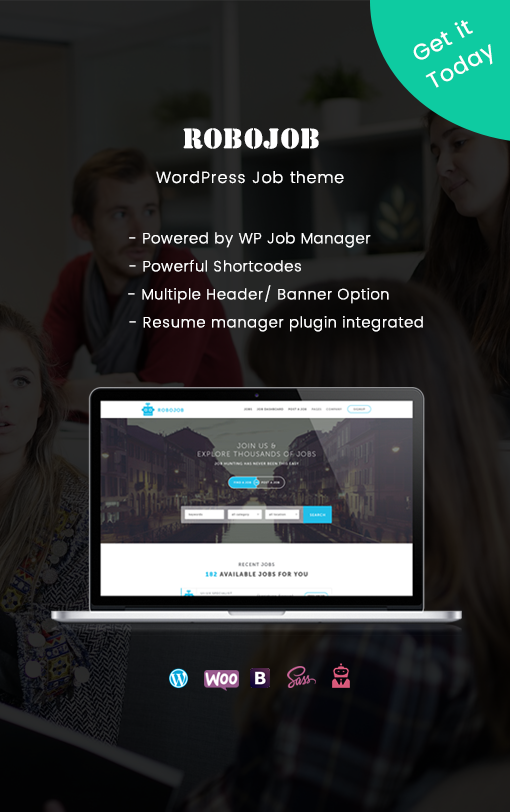 Premium WordPress Theme for WP Job Manager