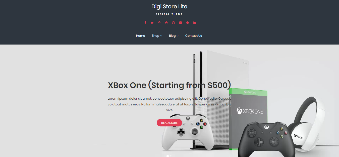 Digi Store Lite, best eCommerce WordPress theme