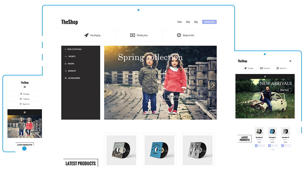 The Shop, eCommerce WordPress themes