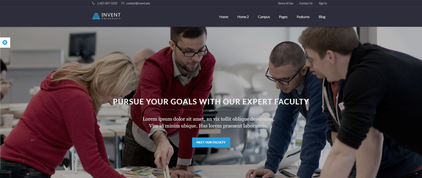 Invent, 20+ Best Education WordPress themes 2018, Best education themes 2018