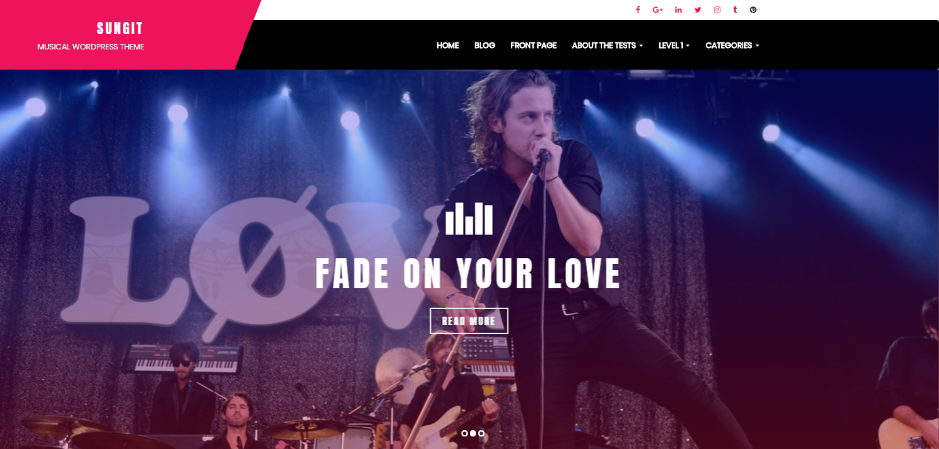 Sungit Lite, Free WordPress theme for musicians