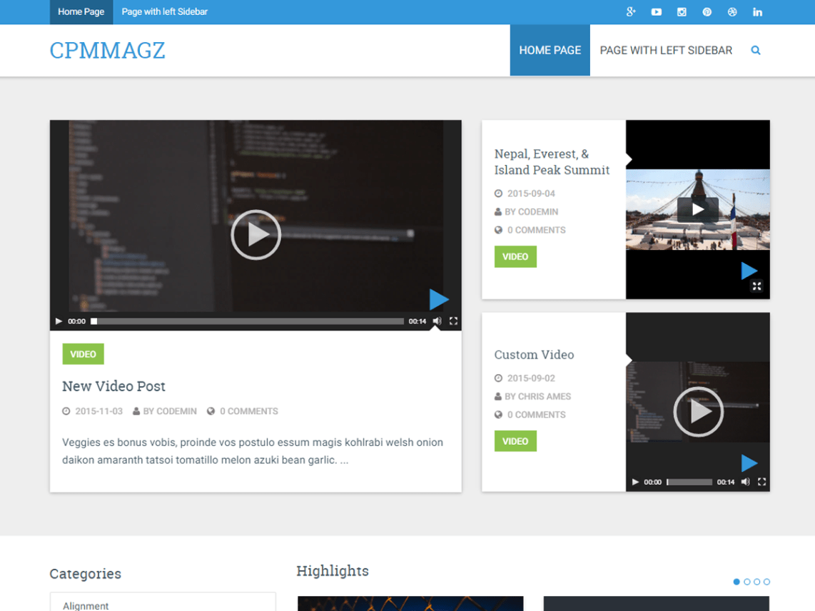 free WordPress blog themes, CPM Magz