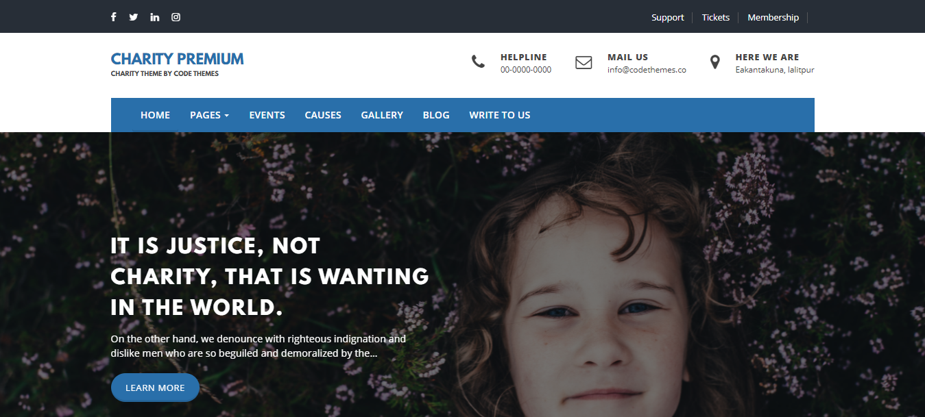 WordPress themes for Nonprofits and charity